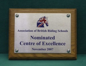 Association of British Riding schools stainless plaque
