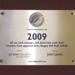 Freedom Food Stainless plaque