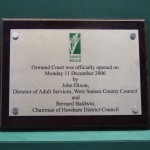 Saxon Weald Stainless steel plaque